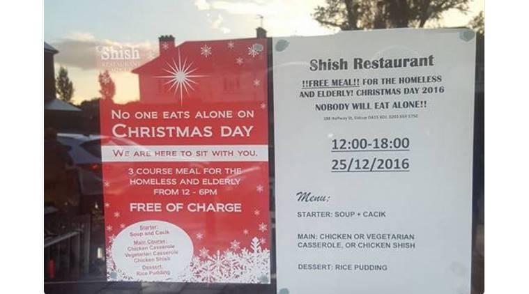 ร้านอาหารมุสลิมในอังกฤษ ประกาศเลี้ยงคนชรา-คนไร้บ้านในวันคริสต์มาส