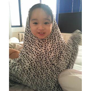 ภาพอบอุ่น จีจี๊ จอมขวัญ กับลูกสาวคนโตสุดน่ารัก ในแบบมุสลิม