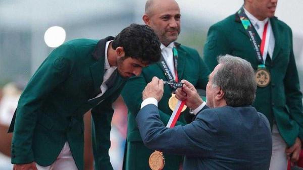 เฮ! ทีมขี่ม้าจากซาอุฯ คว้าเหรียญทองในกีฬาเอเชียนเกมส์